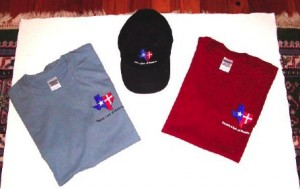 T-shirts and hats